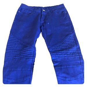 Indigo blue Moto pants size small -24